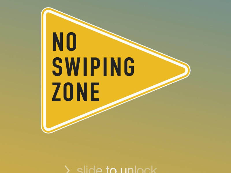 No Swipe iphone wallpaper texting driving