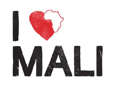 Mali africa heart red mali worn