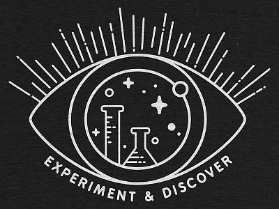 Experiment & Discover doers makers screenprint tee clothing discover experiment tech science vector cottonbureau tshirt