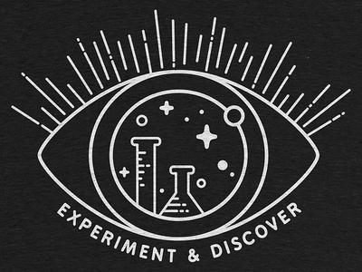 Experiment & Discover doers makers screenprint tee clothing discover experiment tech science vector cottonbureau tshirt