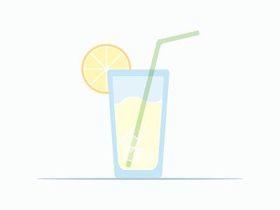 Summah Time vector cool drink refreshing lemonade summertime summer