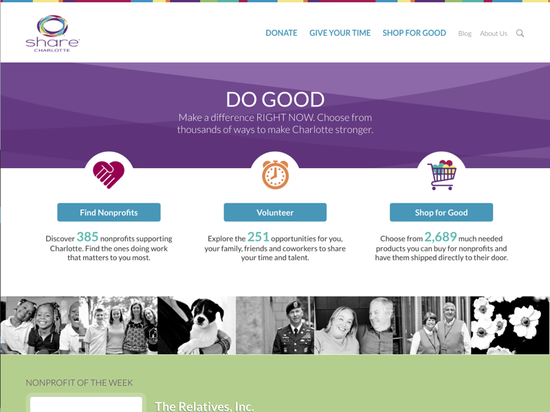 SHARE Charlotte Redesign share charlotte do good philanthropy charlotte nonprofit