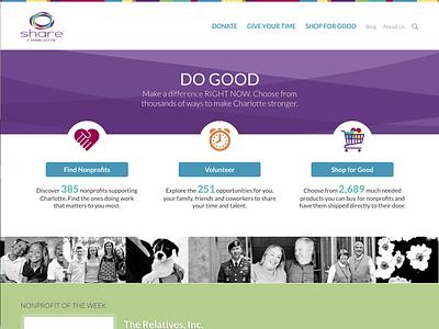 SHARE Charlotte Redesign share charlotte do good philanthropy charlotte nonprofit