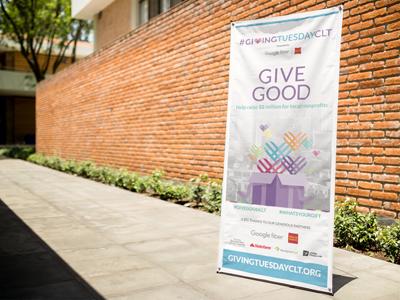 GivingTuesdayCLT banner marketing campaign gift nonprofits philanthropy banner print charlotte wells fargo google fiber givingtuesdayclt givingtuesday