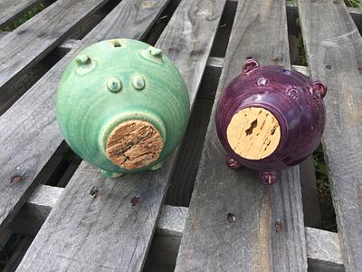 Mini Piggy Banks pig farm craft handmade piggy bank pigs clay ceramics pottery