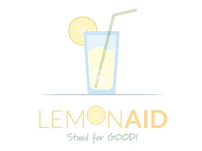 LemonAID Stand summershareclt nonprofit lemon stand sign logo illustration
