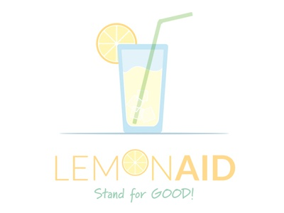 LemonAID Stand summershareclt nonprofit lemon stand sign logo illustration