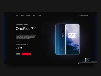 OnePlus7Pro Concept Home page