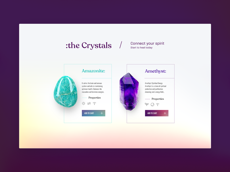 HALLOWED GROUND | Crystals interface ui  ux art direction web design website