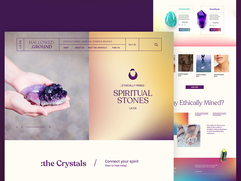 HALLOWED GROUND | Website interface web design website art direction ui  ux
