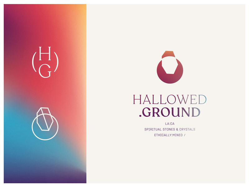 HALLOWED GROUND | Brand logo design gradient design art direction branding brand