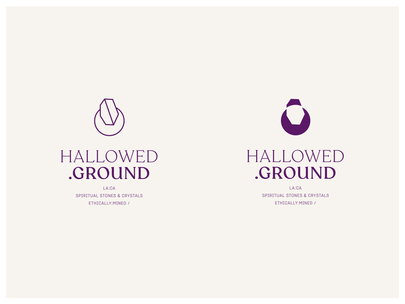 HALLOWED GROUND | Brand art direction graphic logo design branding
