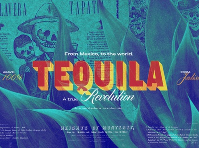 Tequila. A true revolution. artwork art direction collage illustration colors tequila tipography