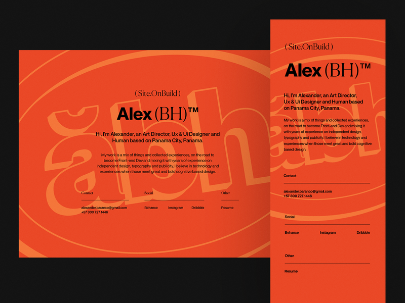 Personal branding - On-build site personal branding personal brand ui design branding art direction