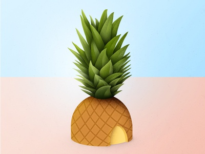 Piña Pa La Niña wip brush psd tropical pineapple fruit piña