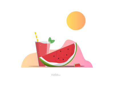 Sunny Water Melon Day