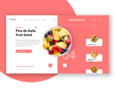 Fruit Salad Web UI Design
