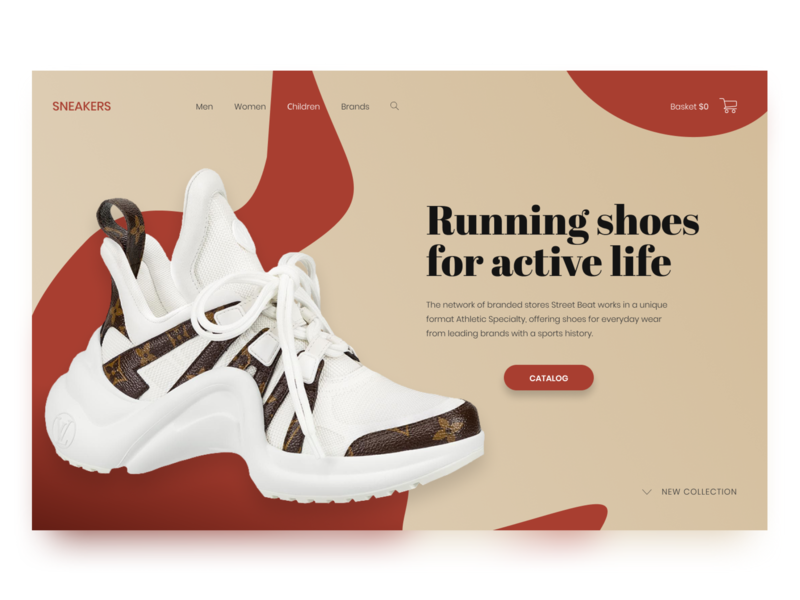 Concept store - Sneakers typography sneakers concept web ui store design