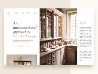 Minimalistic website of interior design studio
