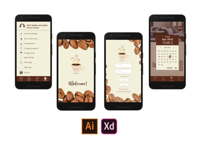 UI Design – Android Mobile Application Screens