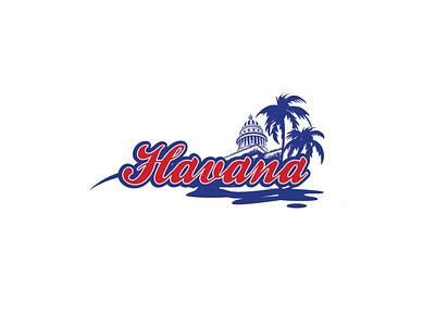 Havana cubano cuba vector branding logo design
