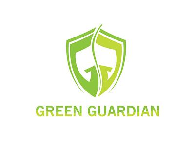 Green guardian nature logo illustration vector branding logo design