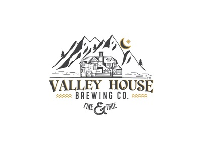 Valley House drink vector illustration design logo brewery logo brewing