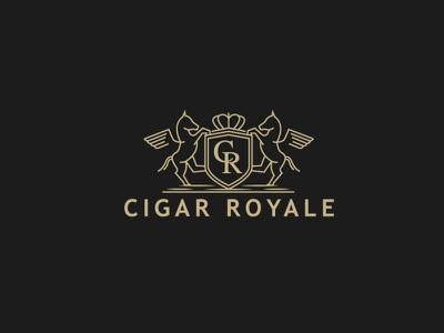 Cigar Royale design logo design coat of arms cigar logo logotype