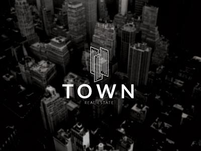 Real estate logo concept realestate town logo design branding design