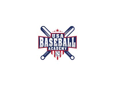 baseball academy sports logo baseball logo design branding logo