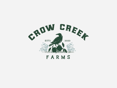 Crow creek logoforsale vintage logo logodesign logo crow