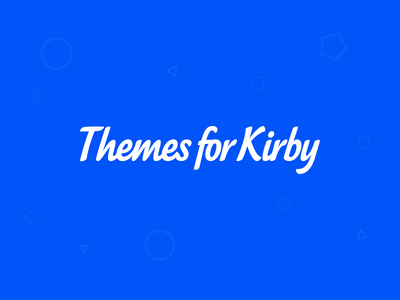 Themes for Kirby sass css html templates logo cms kirby themes