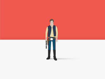 Solo star wars illustration han solo