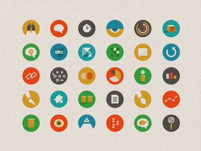 Dognition icons icons geometric infographics dogs games