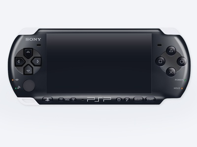 Realistic Sony PSP Vector Illustration