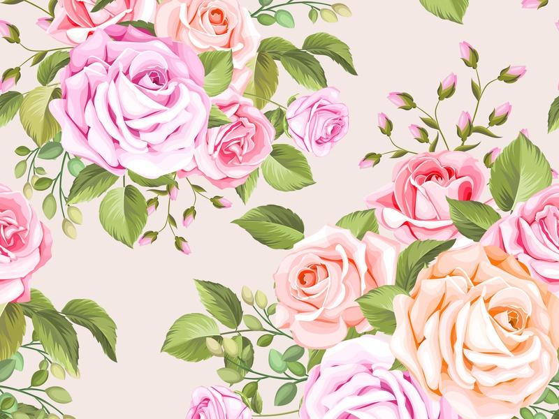 beautiful floral and leaves seamless pattern art fashion decoration print design flower fabric summer texture plant beautiful textile floral background illustration nature wallpaper pattern leaf seamless