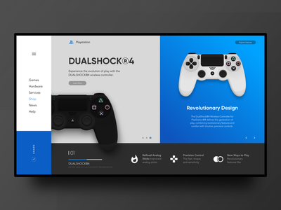 Re-edit concepto Playstation - Dualshock 4 uxdesign webdesign
