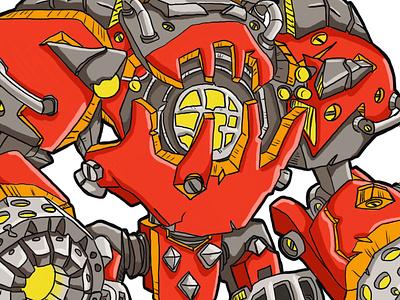 Goblin Mech - fan art - World of Warcraft illustration