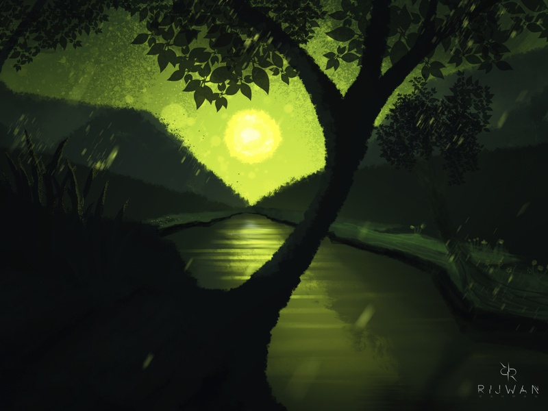 A greenish Night