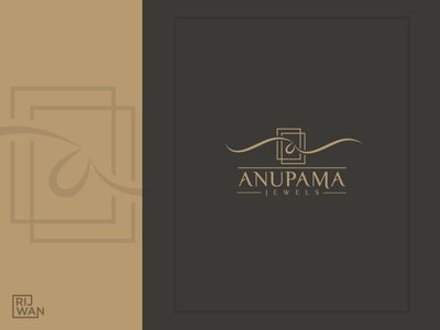 Anupama jewellery Logo luxury brand minimalist logo luxury logo logo logodesign jewellery logo logodaily