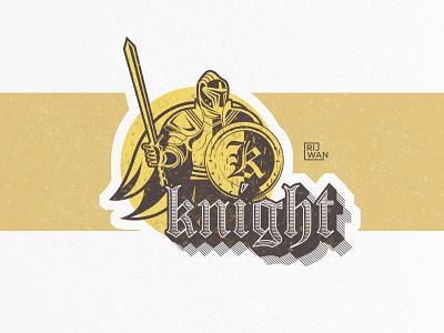 Knight Logo Concept retro art art vintage typography typography retrodesign vector illustration retro logo vintage logo knight logo logo