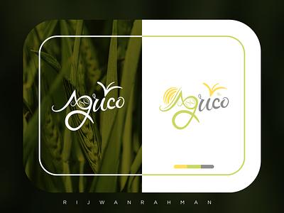 Typography logo minimal logo refreshing green logodesign flat fertilizer agricultural flatdesign minimalist logo
