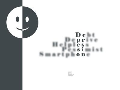 Depression Text Based Dessign depression design characterdesign branding ui emoji trendy design trendy flat blur cover design minimalist minimal