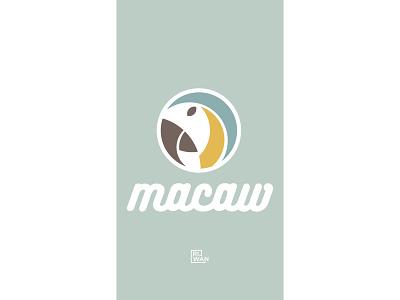 Macaw Logo minimal design macaw clean design bird bird logo retro logo vintage logo minimalist logo logo