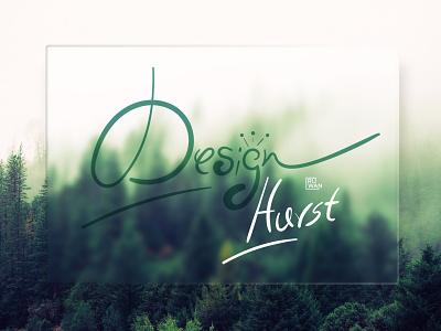 Design Hurst Typography design logo minimalist cool logo logodesign forest logo script font typography glass morphism glassmorphism