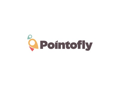 Pointofly Minimal logo flying bird point tracking app gps logo minimal minimalist logo simple logo bird logo bird