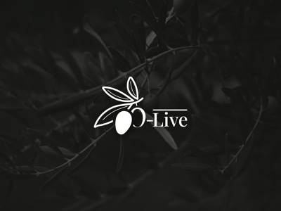 O-Live Minimalist Logo stroke logo ideas logo design green logo logo concept branding leaf logo live olives olive oil olive