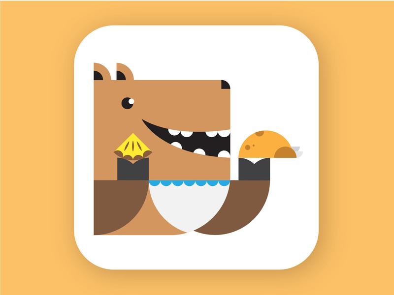 Happy Thanksgiving vector art direction dog illustration graphic design thanksgiving day