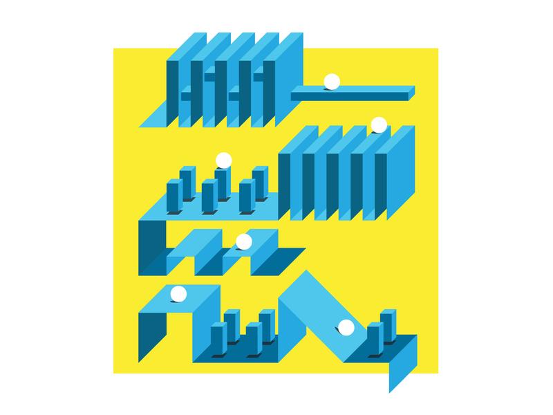 Maze game adobe ad vector design illustration art direction graphic design