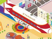 Isometric Theme Park Map